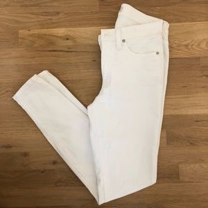 """Madewell Skinny 9"""" high rise white jeans 27 Tall"""